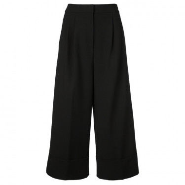 tibi cropped wide leg trousers
