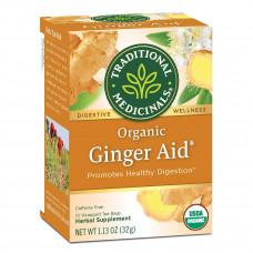traditional medicinals organic ginger aid digestive tea 16 tea bags