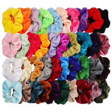 40pcs hair scrunchies velvet elastic hair bands scrunchy hair ties ropes 40 pack scrunchies for women or girls hair accessories for thanksgiving christmas 40 assorted colors scrunchies