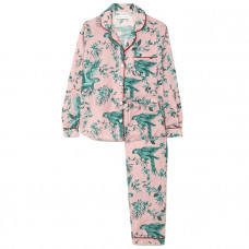 desmond and dempsey bromely parrot printed organic cotton voile pajama set