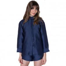 lunya resort linen silk shirt set