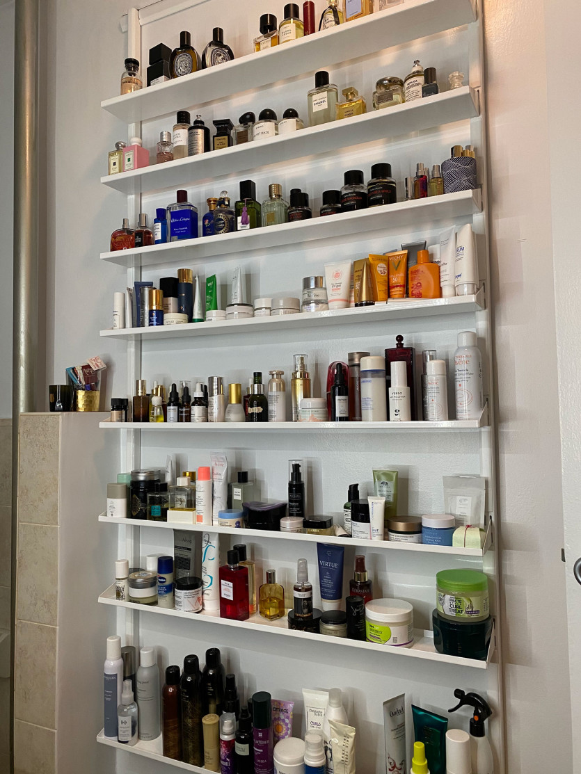 beauty editors product storage