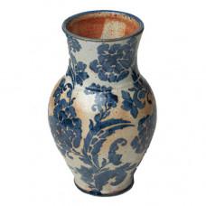 amanda moffat indigo large curvy vase