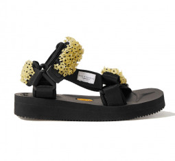 + Suicoke Maria Embellished Canvas Sandals by Cecilie Bahnsen
