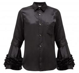 Flared-cuff Satin Shirt by Comme des Garçons