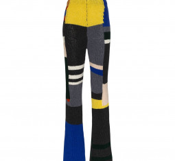 Panelled Knitted Flared Trousers by Eckhaus Latta