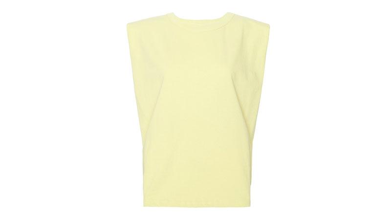 frankie shop x camille charriere eva paddle shoulder muscle t-shirt