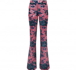 Floral Brocade Flared Pants by Gucci