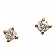local eclectic solid gold diamond studs