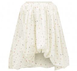 Britta Floral-print Cotton-poplin Puffball Skirt by Molly Goddard