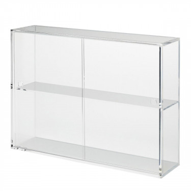 muji acrylic storage case with sliding doors