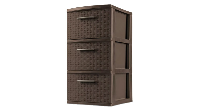 sterilite 3 drawer medium weave tower