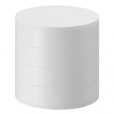 yamazaki home tower 4 tiered accessory tray white