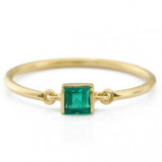 yi collection emerald petite circle ring
