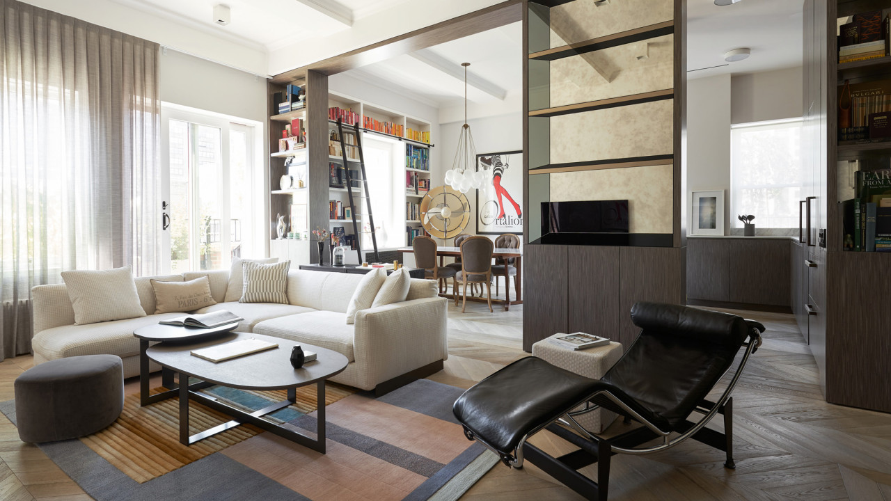 Step Inside This Fashion Couple's Modern-Meets-Traditional Penthouse