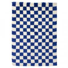 aelfie checkmate shag rug blue