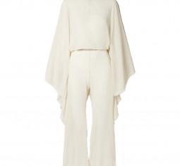 + Net Sustain Open-back Leather-trimmed Cotton-gauze Jumpsuit by Caravana