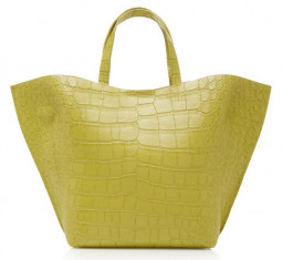 Croc Embossed Leather Shell Tote by IMAGO-A