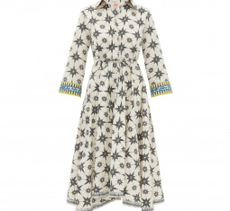 Lucy Star-print Cotton Shirt Dress by Le Sirenuse Positano