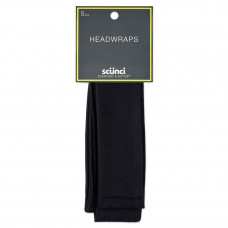 scunci 4 5 cm interlock headwraps black 5pk