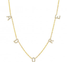 The Original Diamond Spaced Letter Necklace by ByChari