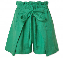 Campbell Tie-front Linen Shorts by Cult Gaia