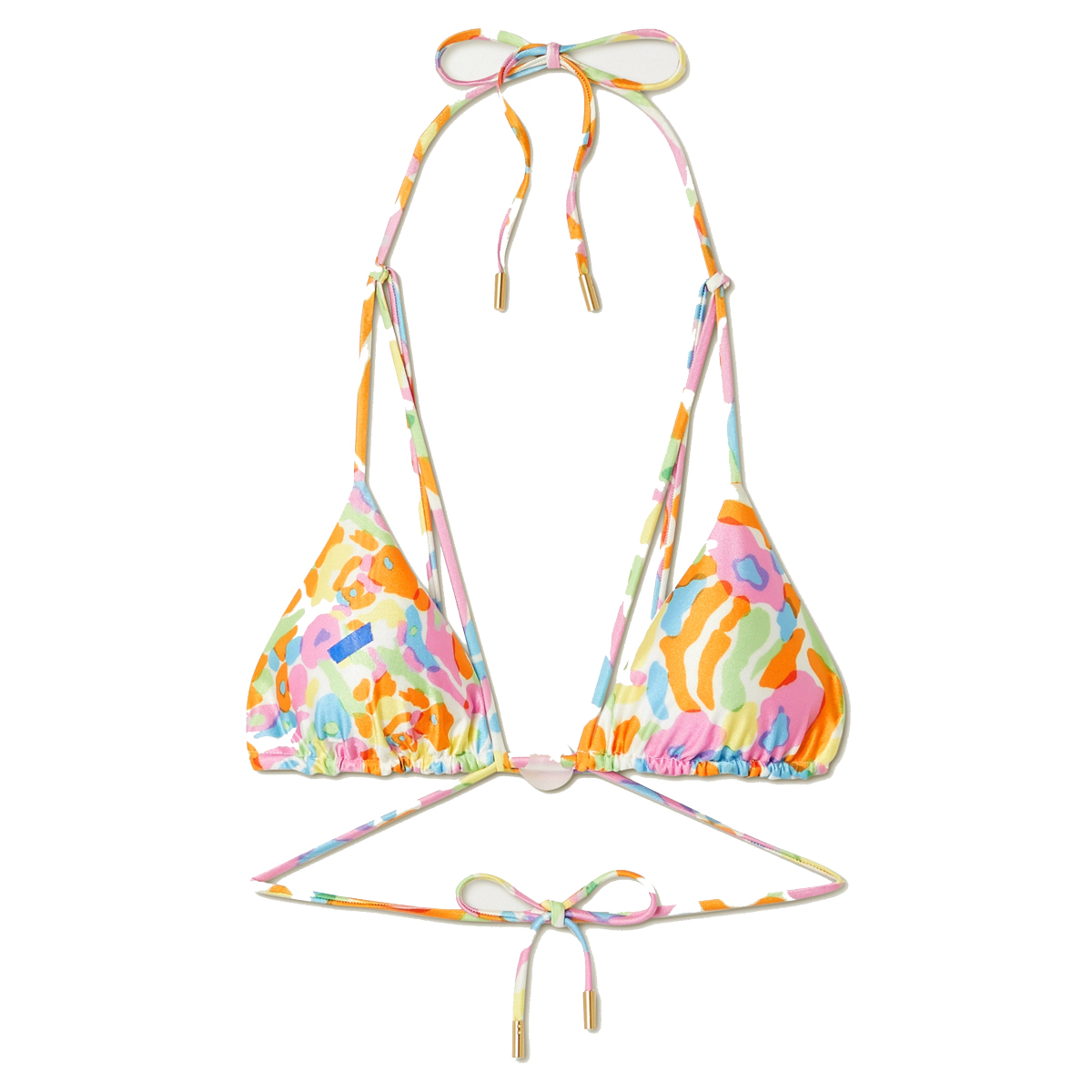 cult gaia sloane embellished printed triangle bikini top shop
