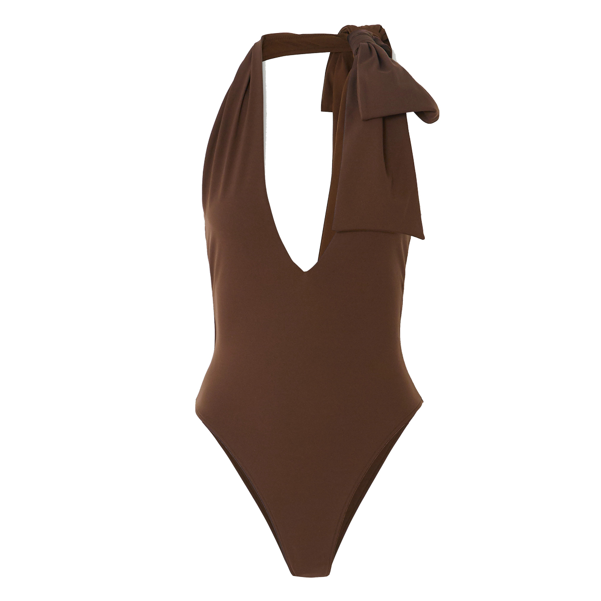 fendi bow embellished halterneck swimsuit shop