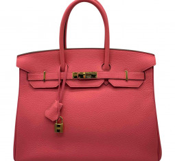 Birkin 35 Leather Handbag by Hermès