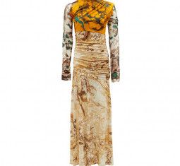 Marble-print Silk-jersey Dress by Jil Sander