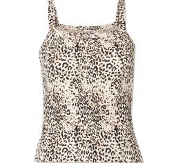 Jamie Cheetah Square Neck Tank by Leset
