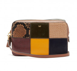 Patchwork Snake-effect Leather Cross-body Bag by Anya Hindmarch