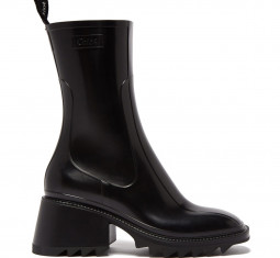 Betty Heeled Rubber Boots by Chloé