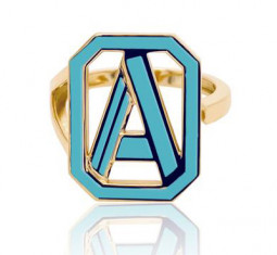 Gatsby Initial Ring by Colette