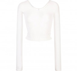 Sheer Cropped Top by Helmut Lang