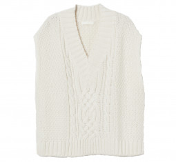 Cable-knit Sweater Vest by H&M