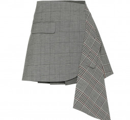Checked Wool and Cotton Mini Skirt by Monse