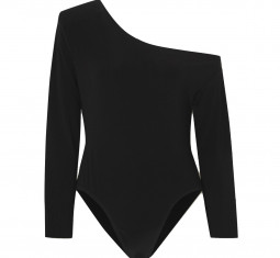 One-shoulder Stretch-jersey Bodysuit by Norma Kamali