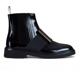 Chelsea Viv' Rangers Metal Buckle Ankle Boots by Roger Vivier