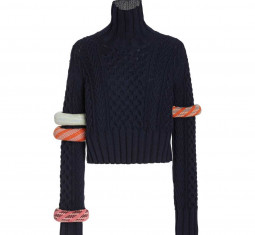 Bangle-detailed Wool-cotton Sweater by Rosie Assoulin