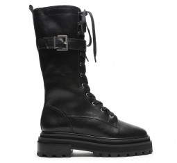 Moly Leather Combat Boot by Schutz