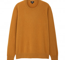 Uniqlo Cashmere Crew Neck Long-sleeve Sweater by