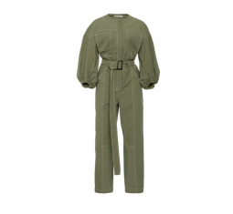 Annika Puff-sleeve Stretch-cotton Jumpsuit by Jonathan Simkhai