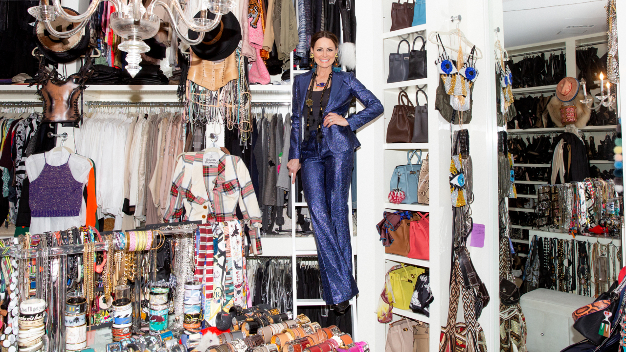 You'll Find No Shortage of Birkin Bags and Platform Heels in This Interior Designer's Closet