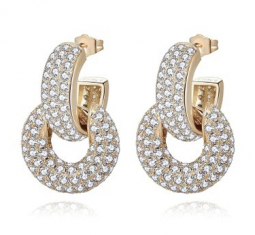 Bella Convertible Crystal-embellished 14K Gold-plated Earrings by Emili