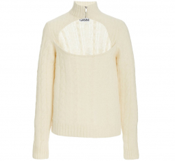 Cut-out Wool-blend Knit Top by Ganni