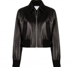 Leather Bomber-style Jacket by Bottega Veneta