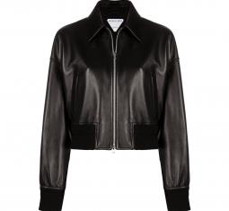 Leather Bomber-style Jacket by Bottega Veneta