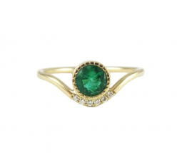 Emerald Wave Ring by Jennie Kwon