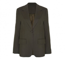Single Button Flap Pocket Blazer by The Franke Shop